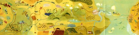 Mapa cesty z knihy Zpátky do Afriky