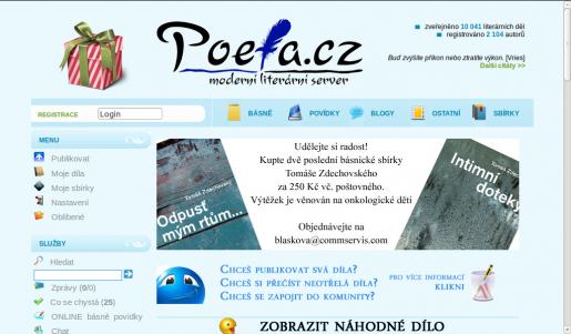 Ukázka z webu www.poeta.cz