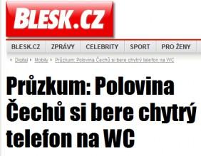 Titulek z deníku BLESK.CZ