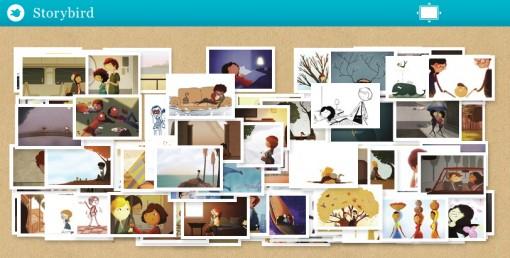 Ukázka kolekce obrázků na Storybird.com